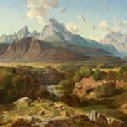 View To Watzmann And Hochkalter Poster