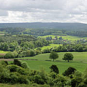 View Of The Surrey Hills From Newlands Corner Poster