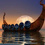 Viking Boat Poster