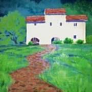 Villa In Tuscany Poster