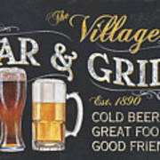 Village Bar And Grill Poster
