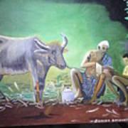 Village Life Poster