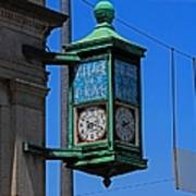 Village Of Elmore Clock-vertical Poster
