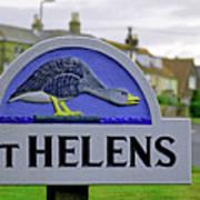 Village Sign - St Helens Poster
