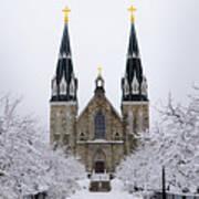 Villanova University After Snow Fall Poster