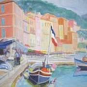 Ville Franche Boat Poster