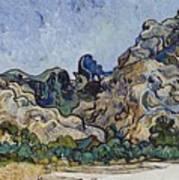 Vincent Van Gogh  Mountains At Saint Remy Poster