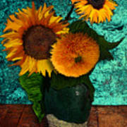 Vincent's Sunflowers 2 Poster