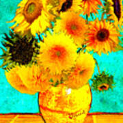 Vincent's Sunflowers 4 Poster