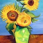 Vincent's Sunflowers Poster