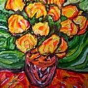 Vinces Flowers Poster