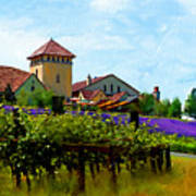 Vineyard And Heather Poster