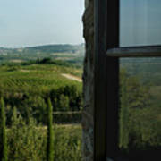 Vineyards Of Chianti Viewed Poster by Todd Gipstein