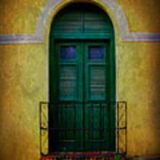 Vintage Arched Door Poster