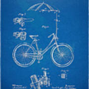 Vintage Bicycle Parasol Patent Artwork 1896 Poster by Nikki Marie Smith