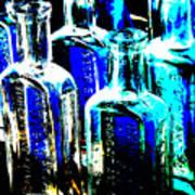 Vintage Bottles At A Flea Market Hard Poster
