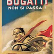 Vintage Bugatti Advert Poster