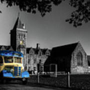 Vintage Bus At Taunton School Poster