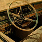 Vintage Cadillac Steering Wheel And Interior Poster