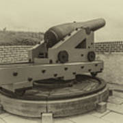 Vintage Cannon At Fort Moultrie Poster