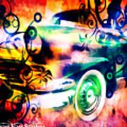 Vintage Car 1 Neons Edition Poster