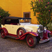 Vintage Car In Funchal, Madeira Poster
