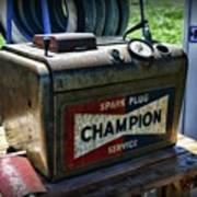 Vintage Champion Spark Plug Cleaner Poster