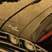 Vintage Chevrolet Chevelle Hood Poster