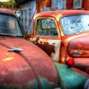 Vintage Chevy Trucks Poster