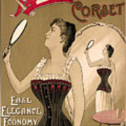Vintage Corset Ad 1890 Poster