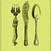Vintage Cutlery 4 Poster