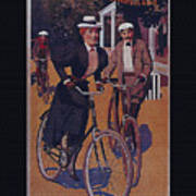 Vintage Cycle Poster March Davis Cycle 100 Dollars Poster