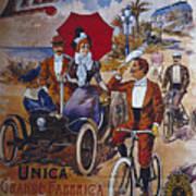 Vintage Cycle Poster Prinetti Stucchi Unica Grande Fabbrica Italiana Milano Poster