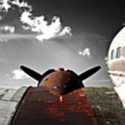Vintage Dc-3 Aircraft  Poster by Steven  Digman