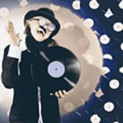 Vintage Dj Bringing Back The Retro Beat Poster