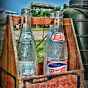 Vintage Double Dot Wooded Pepsi Carrier Poster