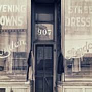 Vintage Dress Shop Poster