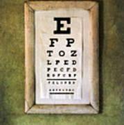 Vintage Eye Chart Poster