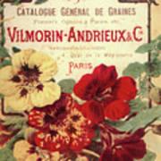 Vintage Flower Seed Cover Paris Rare Poster