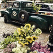 Vintage Flower Truck-nantucket Poster