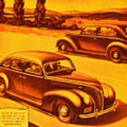 Vintage Ford Advertisement Poster