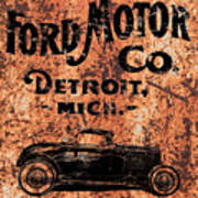Vintage Ford Motor Company Poster