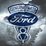 Vintage Ford V8  Poster