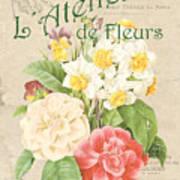Vintage French Flower Shop 1 Poster