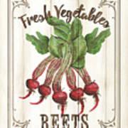 Vintage Fresh Vegetables 1 Poster