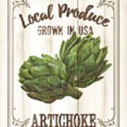 Vintage Fresh Vegetables 2 Poster