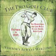 Vintage Golf Green 2 Poster