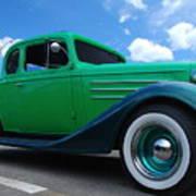Vintage Green Roadster Poster