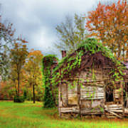 Vintage House Surrounded By Autumn Beauty Poster