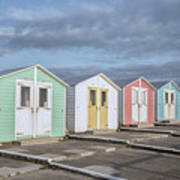 Vintage Huts Poster